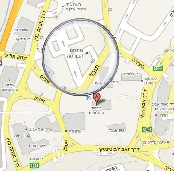 מפת מגדל ספיר רמת גן